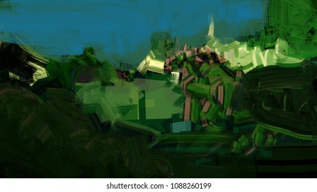 Abstract landscape texture panoramic art colorful digital background