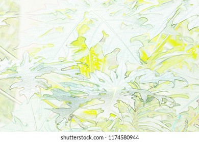 Abstract leaf with painting design