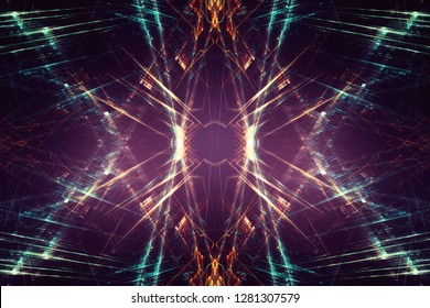Abstract lens flare fractal background