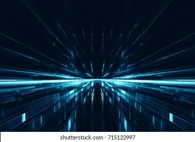 Abstract lens flare space or time travel concept background
