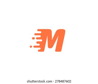 Abstract letter M logo design template. Dynamic unusual font. Universal fast speed fire moving water quick energy drop icon.