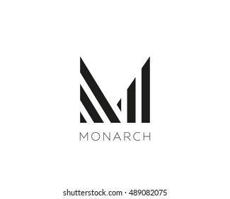 Abstract letter M logo design. Linear creative monogram symbol. Universal elegant icon. Premium business finance logotype.