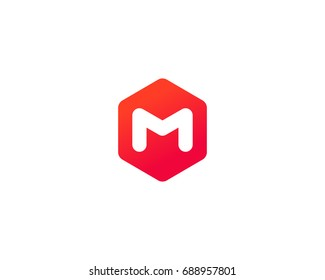 Abstract letter M logo design template. Creative colorful sign mark. Universal icon logotype.