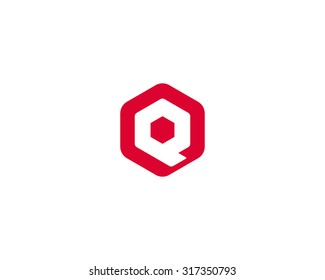 Abstract letter Q logo design template. Colorful creative hexagon sign. Universal icon.