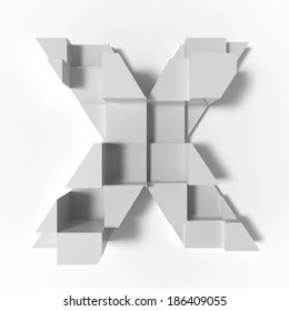 abstract letter X