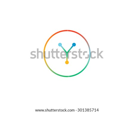 abstract letter y logo design template colorful lined creative sign universal icon