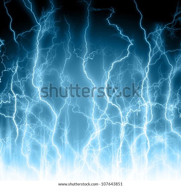 Abstract light blue background. Lightning