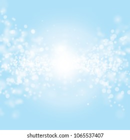 Abstract light blue bokeh background