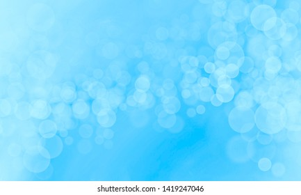 Abstract light blue color background with bokeh effect