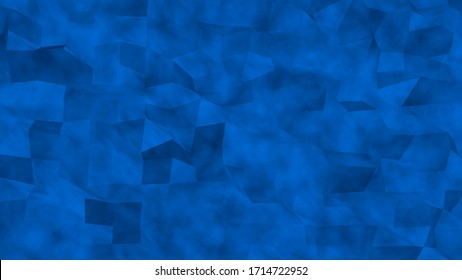 Abstract light blue neon illustration background. A sample with low poly shapes design. Geometric render in blue tones composition for business template.