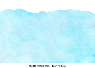 Abstract light blue watercolor background business card with space for text or image, isolated
