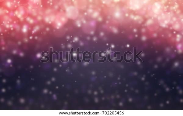 Abstract light bokeh background, Christmas lights, Blurry lights