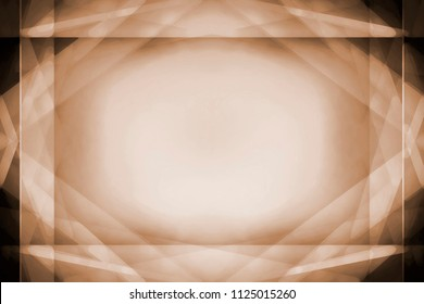 Abstract light brown border frame background with centre glowing highlight