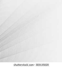 Abstract light gray texture with thin concentric circles. Raster graphic pattern with bokeh effect