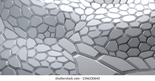 Abstract light grey surface for background, 3d render /rendering