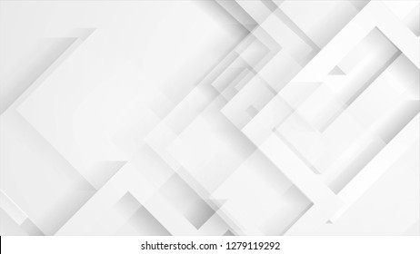 Abstract light grey technology geometric background