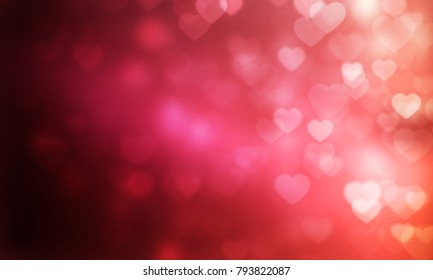 Abstract light Heart bokeh background, Christmas lights, Blurry lights, Glitter sparkle, Valentine Festival
