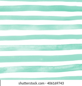 Abstract light mint background texture. Hand draw stripes watercolor. Design illustration image lines.
