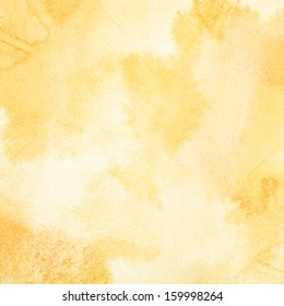Abstract light orange watercolor background