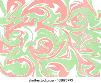 0ca0337057 Abstract light pink and mint green watercolor background. Marble texture.