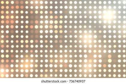 Abstract lights background. Glamorous fashion backdrop. Digital illustration of stage or stadium spotlights. Glowing wallpaper.
