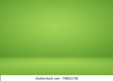 Abstract lime green gradient background empty space room studio for display product ad poster website template wallpaper