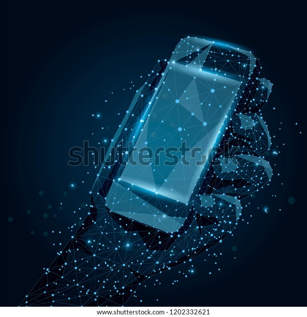 Abstract Line Point Mobile Phone Empty Stock Illustration