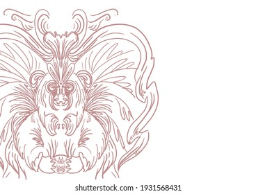 abstract line work tattoo pattern, intricate pink and white lines with a recognizable etching style