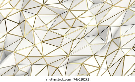 Abstract low polygonal lucksherry background, 3d rendering
