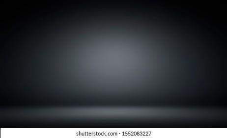 Abstract luxury black gradient with border black vignette background. Studio backdrop.