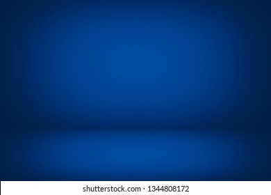 Abstract Luxury Dark Blue Room Background Using for Product Presentation Backdrop.