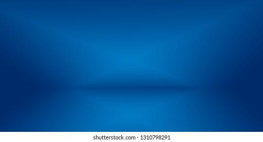 Abstract Luxury gradient Blue background. Smooth Dark blue with Black vignette Studio Banner.