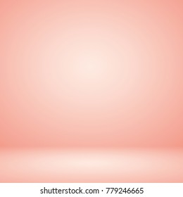 Abstract luxury peach orange white gradient background empty space studio room used for display product ad website wallpaper poster