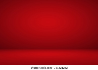 Abstract luxury red elegant maroon gradient background empty space studio room for display ad product website template Christmas valentine poster theme card