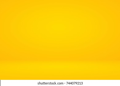 Abstract luxury vintage orange gradient background look like sun and empty studio room for display product ad website template