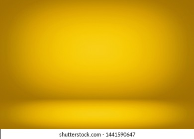 Abstract Luxury Yellow Gold Studio Background Using for Product Presentation Backdrop.