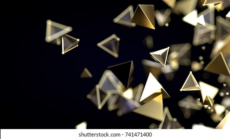 Abstract magro particles. 3d rendering illustration