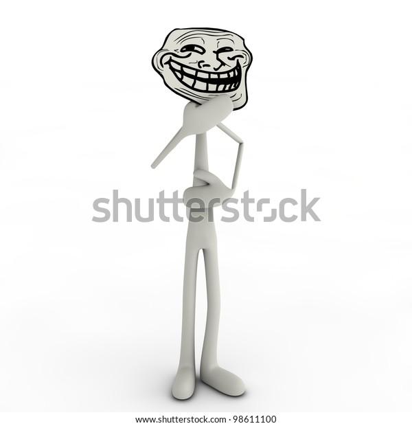 Abstract Man Trollface Stock Illustration 98611100
