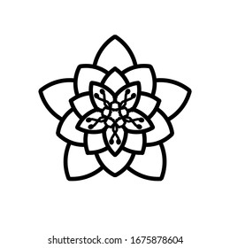 Abstract mandala floral patterns on white background. Greeting Card, Invitation, Tattoo. Anti-Stress Therapy Pattern.