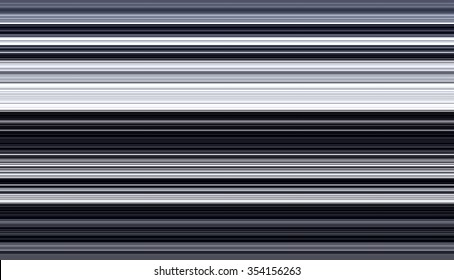Abstract of many thin horizontal stripes, in white, black, and dark grayish blues, for decoration and background with themes of parallelism and variation