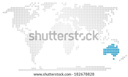 Abstract Map Of The World.Royalty Free Stock Illustration Of Abstract Map World Highlighted