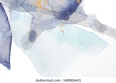 Abstract marble minimal background. Scandinavian design. Hand drawn watercolor  illustration
