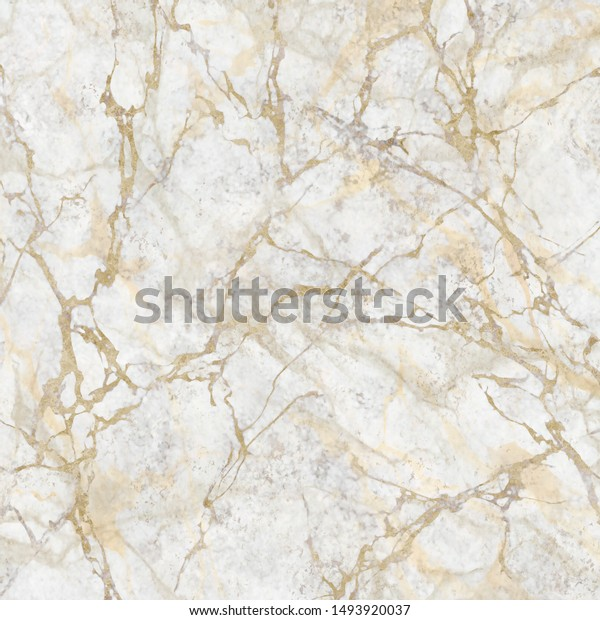 Abstract Marbling Texture White Marble Golden Stock Illustration