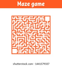 Abstract maze. Game for kids. Puzzle for children. Cartoon style. Labyrinth conundrum. Color  illustration. The development of logical and spatial thinking