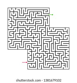 Abstract maze labyrinth with entry and exit