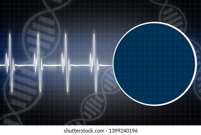 Abstract medical background with DNA structure, 3D rendering