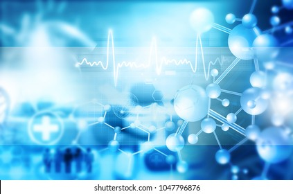 Abstract medical and science background. 3d illustration