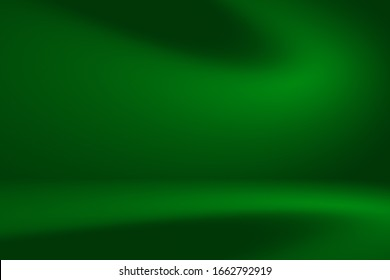 Abstract metal deep mint color gradient spotlight room texture background.  Studio backdrop wallpaper  light room wall color dark green foil and empty space.