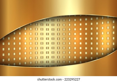 abstract metal gold background in tabloid format