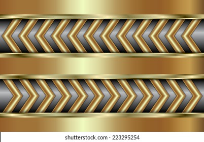 abstract metal gold background with zigzag in tabloid format
